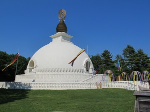 The Beautiful Peace Pagoda in Leverett, MA