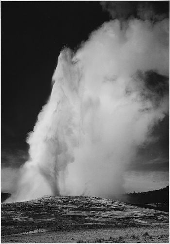 Ansel adams photos of yellowstone national park in 1941