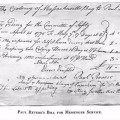 Paul Revere's Bill For Messenger Service