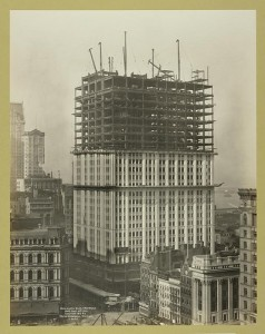 Pictures: The Building of NYC's Woolworth Building. The Tallest in the World in 1913
