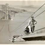 The Golden Gate Bridge being built