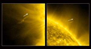 Images of Comet Lovejoy in Orbit Around the Sun