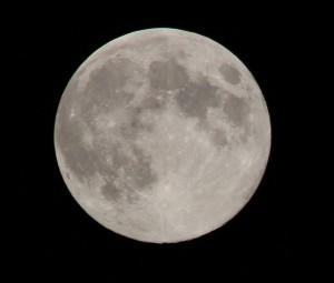 Picture: The Full Blue Moon on August 20, 2013