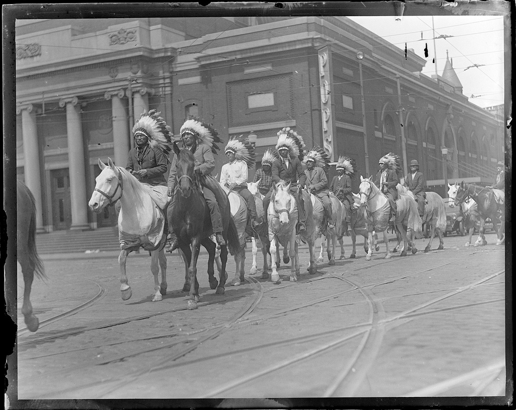 1930 - Indians riding into Boston