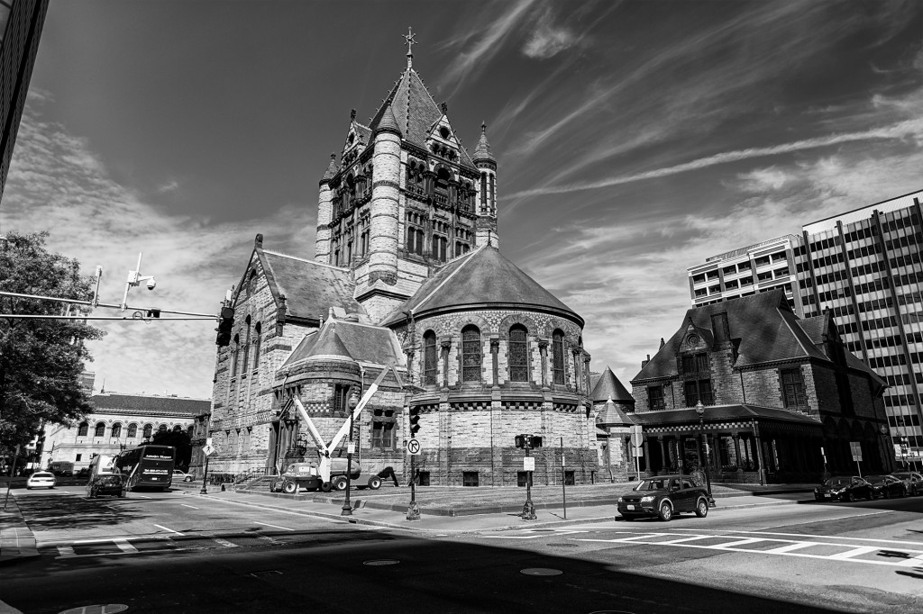 Copley Square - Trinity - HDR - 2014-06-21 8537_8_9 bw2000