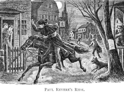 Image result for paul revere midnight ride